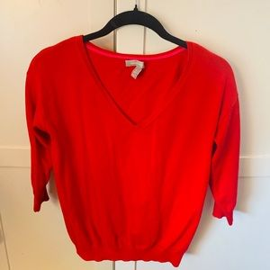 """Red Marilyn V neck Holly berry """"M"""""""